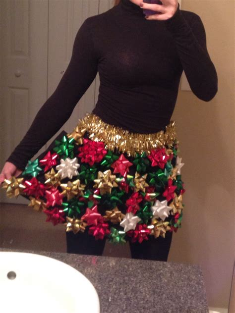 ugly christmas sweater skirt with bows ugly christmas