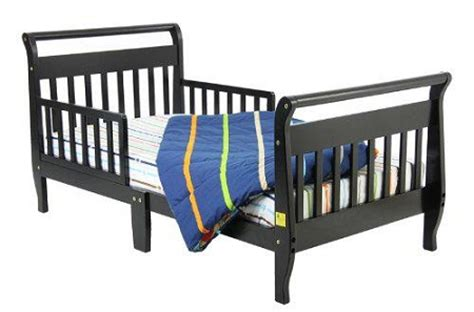 Black Toddler Bed by Sleigh Toddler Bed In Black
