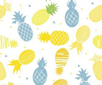 Pineapple Background Kuning musim panas banner nanas hijau gelap latar belakang
