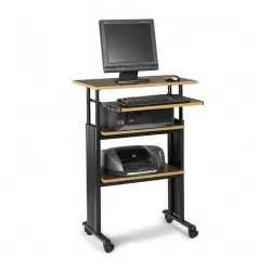 Stand Up Computer Desk Adjustable by Printer