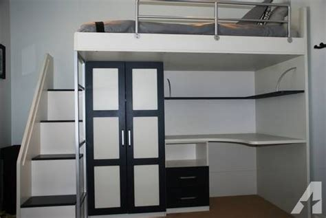 Loft Bed With Closet And Desk by Loft Bed W Built In Desk And Closet For Sale