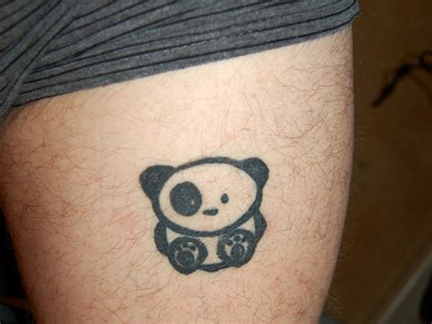 panda tattoo on thigh panda tattoos designs ideas and meaning tattoos for you