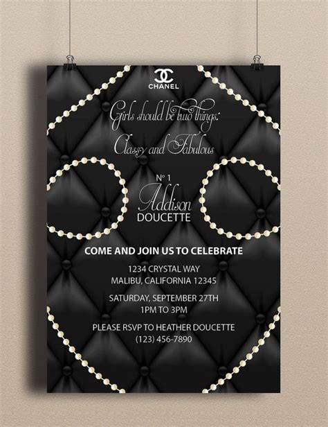 483 Best Images About Coco Chanel Theme On Pinterest Chanel Invitation Template