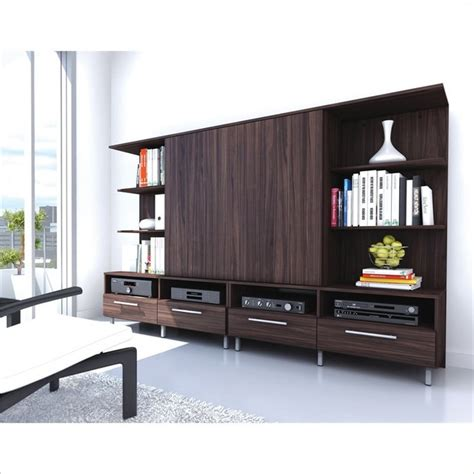 Tv Cabinet Entertainment Center by Sonax Entertainment Center In Pecan