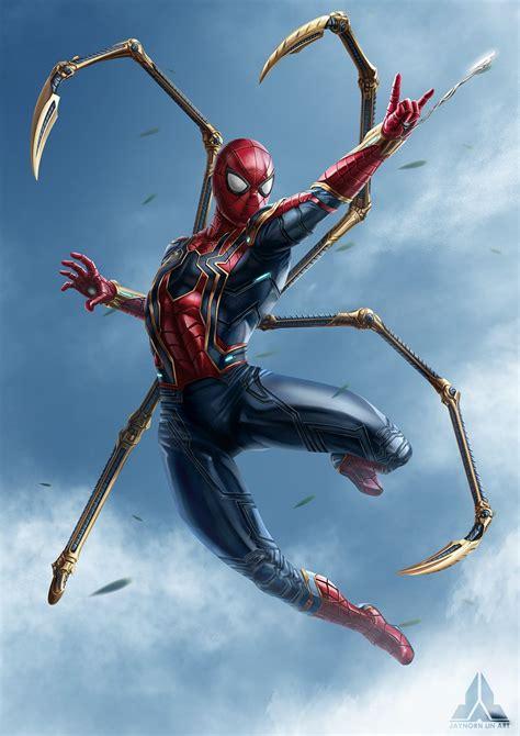 artstation avengers infinity war spiderman jaynorn lin