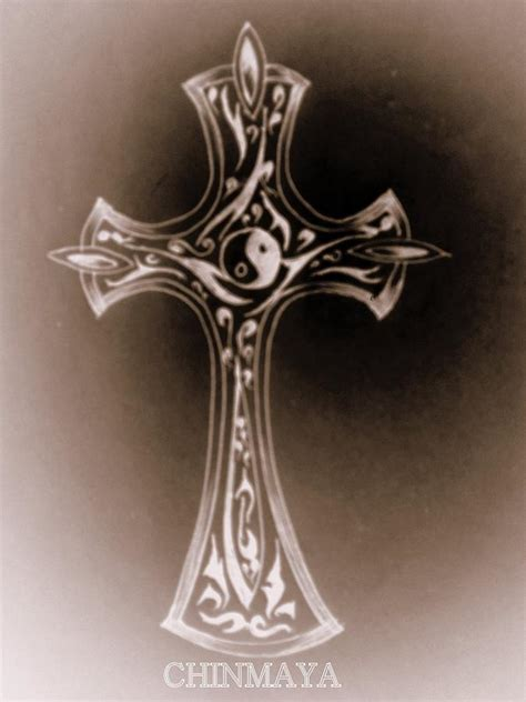 gothic cross art
