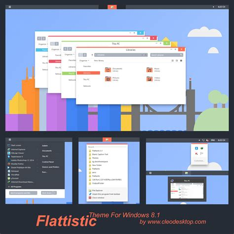 theme creator pro 3 1 260 flattastic theme windows 8 1 by cleodesktop on deviantart