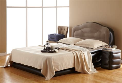 inflatable bed with headboard inflatable bed with side table sharper image