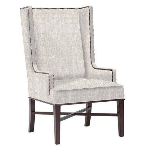 Dining Wing Chair Jacqueline Hostess Wing Back Occasional Dining Arm Chair