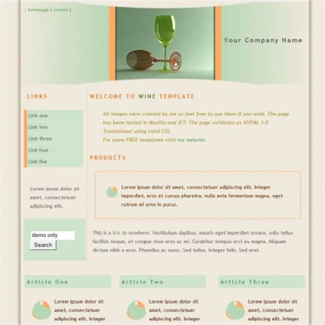 Wine Website Templates wine template free website templates in css html js