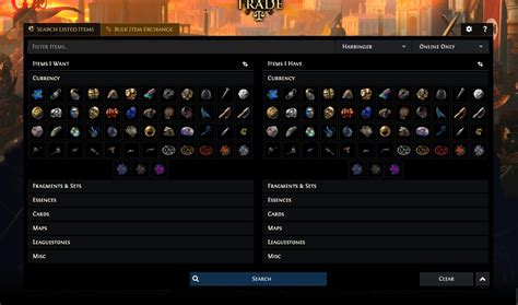 exle of trade path of exile launched new trade system and published path