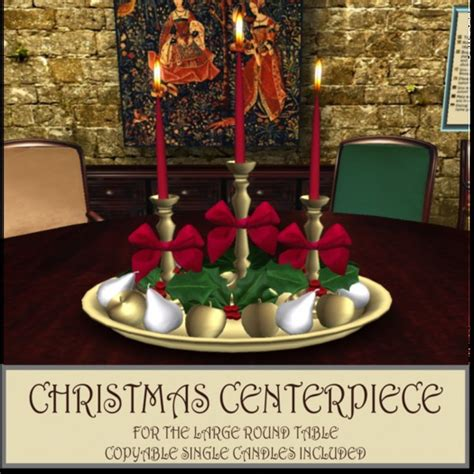 christmas centerpieces for round tables second life marketplace dinner party ii large round