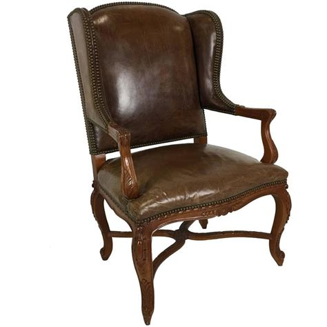 Ralph Chair ralph spencer leather wing chair at 1stdibs