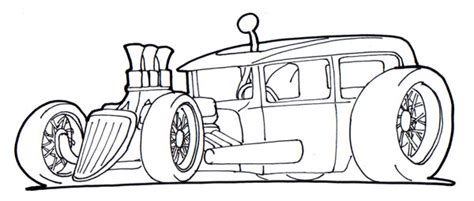 hot rod cars coloring pages street rod coloring page