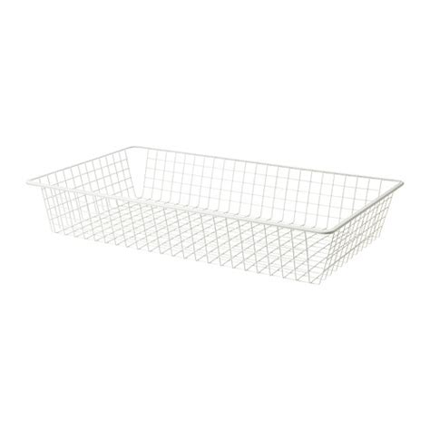 komplement wire basket with pull out rail white 100x58 cm