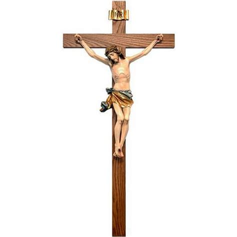 painted crucifix straight cross online sales on holyart com