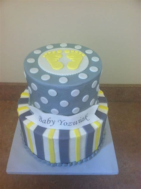 Baby Shower Yellow And Grey by Grey Yellow Baby Shower Cake Baby Shower Cakes