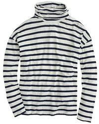 Turtle Neck T Shirt Oversize Oversized Stipe Stripes Import j crew oversize stripe turtleneck