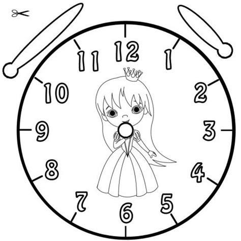 Kostenlose Vorlage Uhr Kostenlose Malvorlage Uhrzeit Lernen Ausmalbild Prinzessin Zum Ausmalen