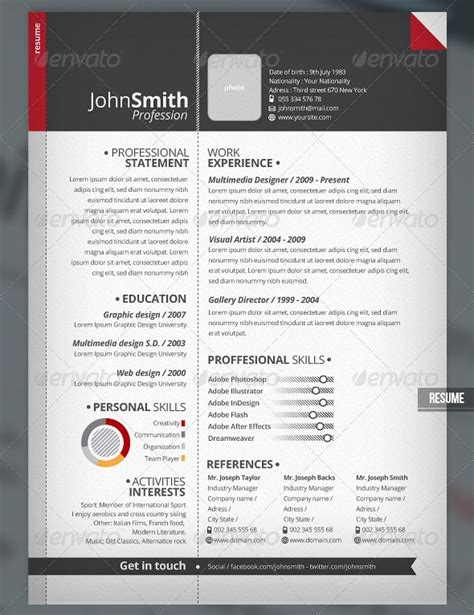 Stylish Resume Templates by 37 Stylish Resume Templates Ipixel Creative Singapore