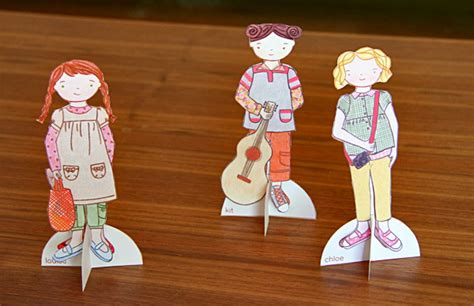 How To Make A Paper Doll Stand - wee wonderfuls archive kit louise paper dolls in