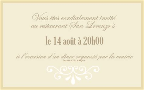 Exemple De Lettre D Invitation Au Restaurant Disaster Dinner Tc