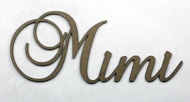 Mimi In Letters by Mimi Fancy Chipboard Word Want2scrap