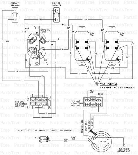 generac 5500 watt generator wiring diagram generac