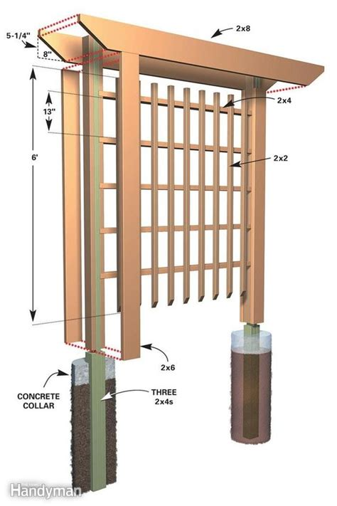 diy trellis arbor trellis on pinterest
