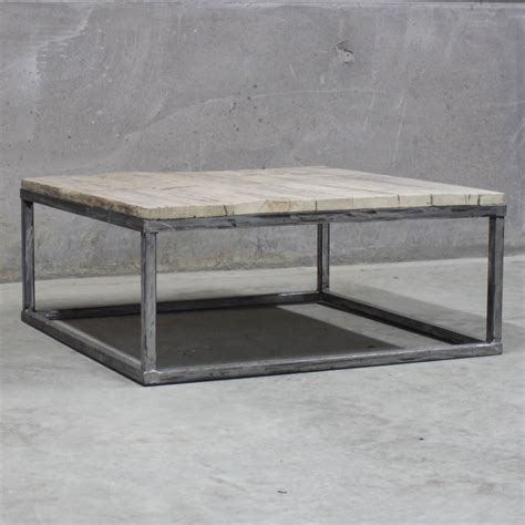 box frame coffee table reclaimed wood coffee table with steel box frame by