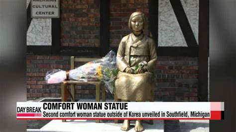 comfort women monument second comfort women statue overseas unveiled in michigan
