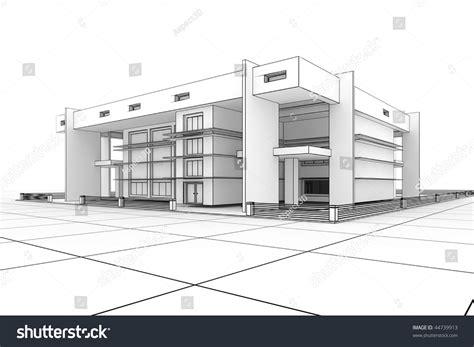 glenunga home drafting design 3d modern house design blueprint style stock illustration
