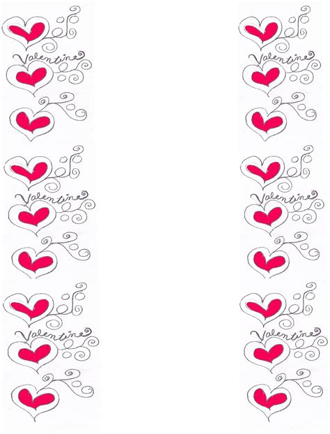 valentines day boarder borders new calendar template site