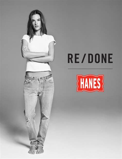 Next Fall 2007 Ad With Alessandra Ambrosio And Paul Sculfor by Alessandra Ambrosio For Re Done X Hanes Summer 2016