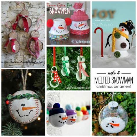 ornaments snowman 27 diy snowman ornaments for snowman ornament