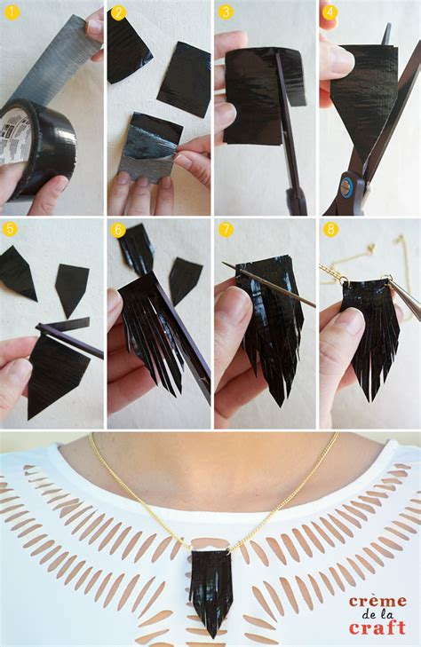diy fashion craft ideas diy 3 duct necklaces tutorial
