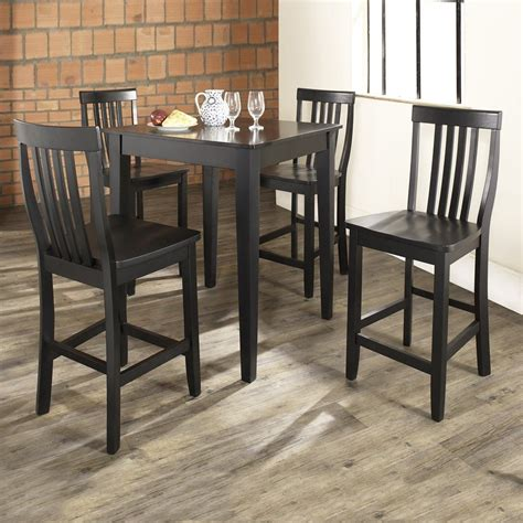 crosley furniture black dining set  counter height table  lowescom