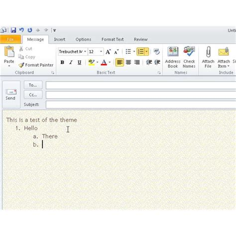 themes in microsoft outlook working with microsoft outlook email themes