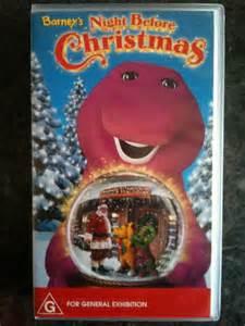 Barney barney s night before christmas as new vhs video ebay