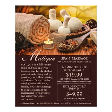 spa coupon template and spa salon flyer with coupons template spa
