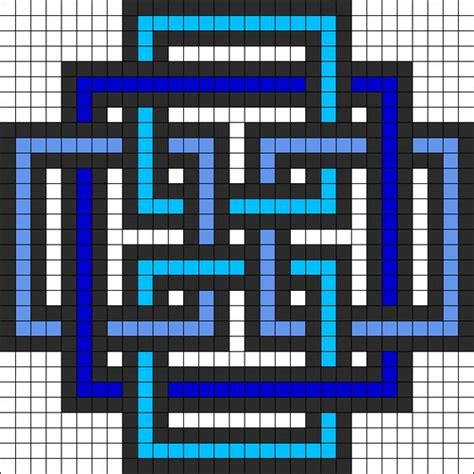 perler bead grid geometric square perler bead pattern quilts inspiration