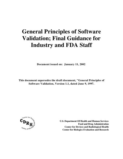 Fda Software Validation Guidance For Bing Images Fda Software Validation Templates