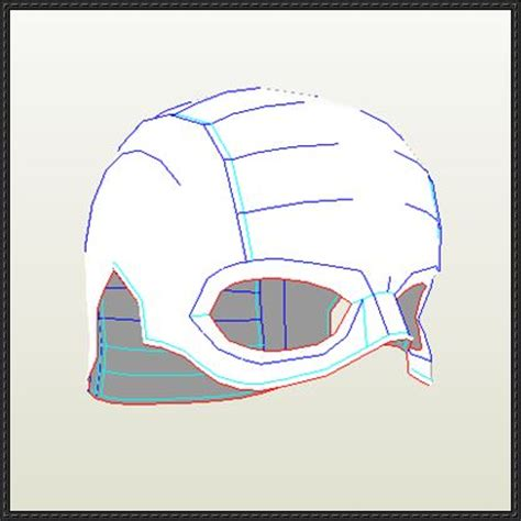 captain america helmet template papercraftsquare new paper craft