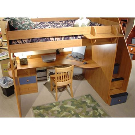 study loft bed berg furniture utica full loft bed with study station
