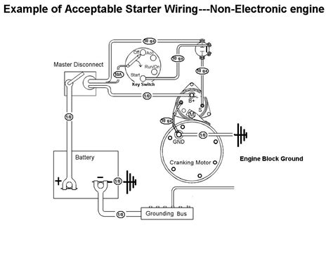 acceptable starter motor wiring  mag switch