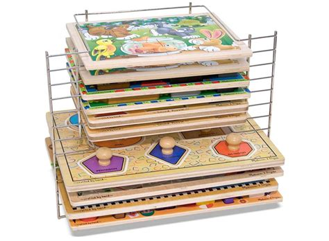 And Doug Wire Puzzle Rack by Puzzle Storage Project Nursery