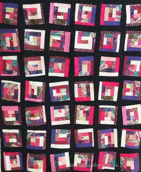 Mile A Minute Quilt by Fabadashery Longarm Quilting Mile A Minute Scrap Quilt By