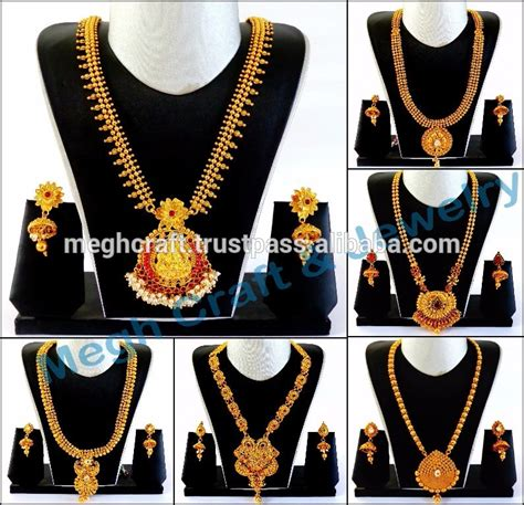 1 gram indian gold jewellery south indian one gram gold plated kundan with pearl