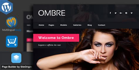 themes wordpress escort ombre model agency fashion wordpress theme by egemenerd