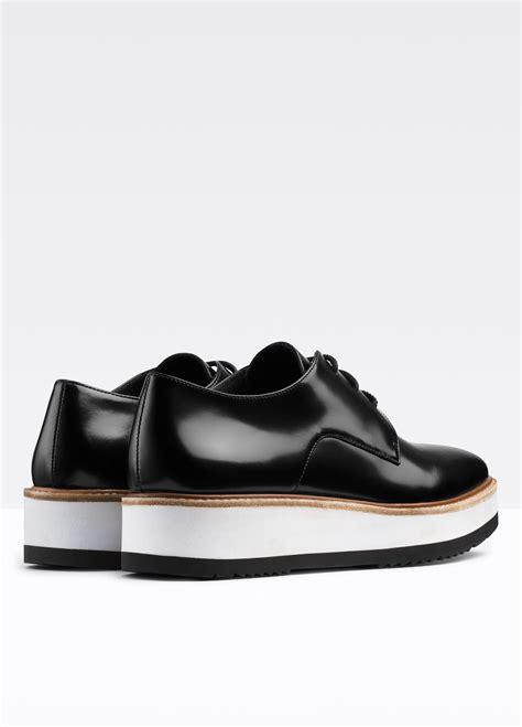 platform loafers womens lyst vince reed platform leather loafer in black